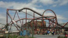 Apocalypse at Six Flags America is now complete and ready for testing. Six Flags America, Disneyland, Fair Grounds, Roller Coasters, Dream Life, Apocalypse, Scream, Parks, Travel