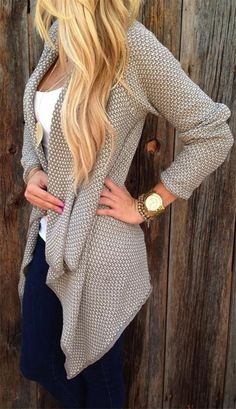 Only $19.99,This is one solid color cardigan,very warm woman sweater reflects the loose comfortable feel delicate wild style;Now Free shipping worldwide! No minimum purchase! Easy Return.Search more fashion clothing at vogueclips.com