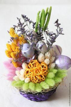 Композиция из сухоцветов -Пасха (3) – купить в интернет-магазине на Ярмарке Мастеров с доставкой - 1XU6JRU