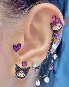 Weird Jewelry, Cute Jewelry, Jewlery, Mode Emo, Pretty Ear Piercings, Grunge Jewelry, Accesorios Casual, Piercing Tattoo, Cute Earrings