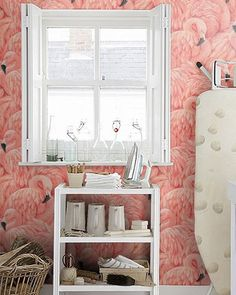 FLAMINGO BEHANG - 16 euro per rol via Wallpaperdirect