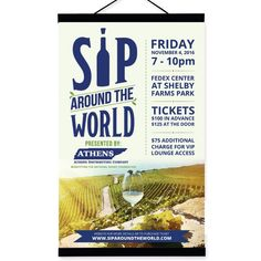 Wine Tasting Event Poster by Brushwork D' Studio