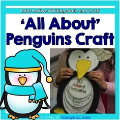 Penguins: This 'All About Penguins' craft has all of the patterns to make this cute penguin! The pack also provides a 5 page flip book to review students' penguin knowledge.  The pages include a penguins' habitat, parts of a penguin for students to label, predators and prey, and a fact page.