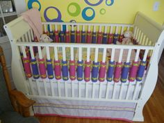 A couple of weeks ago, I mentioned in my to-do list post that I was working on making a new type of crib bumper for our baby's crib. Well, ...