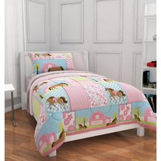 Mainstays Kids Country Meadows Bed in a Bag Bedding Set: Kids' & Teen Rooms : Walmart.com