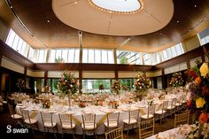 Kahn's Catering Wedding Reception in the Deer Zinc Pavilion of the IMA.
