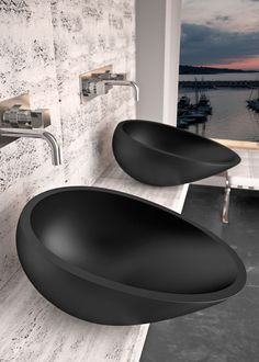Contemporary minimalist bathroom sinks