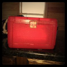 red butterfly make up/travel case used make up/travel case Bags Cosmetic Bags & Cases