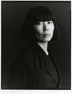 rei kawakubo. photographed by timothy greenfield sanders.