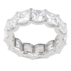 Journee Collection Sterling Cubic Zirconia 6 mm Engagement Band, Women's