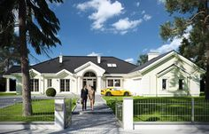 Projekat luksuzne prizemne kuće s garažom Home Fashion, House Plans, New Homes, Exterior, House Design, How To Plan, Mansions, House Styles, Home Decor