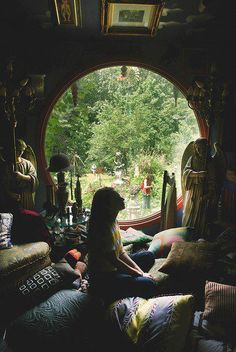 Meditation Room - love the round window!!