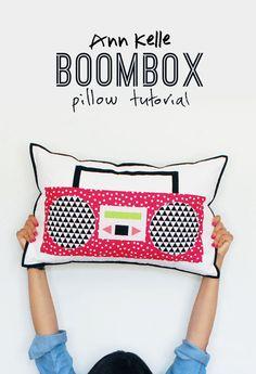 Boombox pillow tutorial - ann kelle