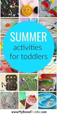 Summer Activities for Toddlers - fun summer activities for 1 year olds 2 year ol. - Summer Activities for Toddlers - fun summer activities for 1 year olds 2 year olds 3 year olds - great toddler activity ideas to do at home or outside. Quiet Toddler Activities, Summer Activities For Toddlers, Activities For 1 Year Olds, Summer Fun For Kids, Toddler Fun, Infant Activities, Preschool Activities, Toddler Crafts, Kids Crafts
