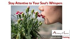 Stay Attentive to Your Soul Whispers