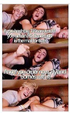 R5SANDWICH http://www.youtube.com/watch?v=1MQbpY8YvGM        HAHAHAHAHAA I can't stop laughing!!!!