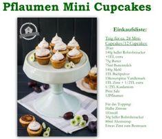 Mini Cupcakes mit Pflaumen - Plum Mini Cupcakes