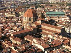 La basílica de San Lorenzo, Florencia, Italia