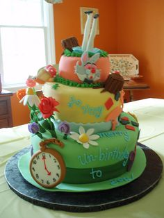 alice in wonderland cake by laurinapastina, via Flickr