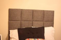 Embellish: {tutorial} Upholstered Headboard Squares