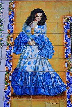 Azulejo de Marifé de Triana. Coplas de la calle Marqués de Santa Ana. Madrid | Flickr: Intercambio de fotos