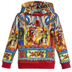 Boys Red 'Chinese Palace' Hooded Top, Dolce & Gabbana, Boy