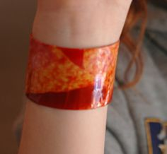 Doritos chip recycled bracelet. $2.50, via Etsy.