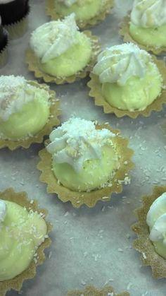 Key Lime Mini Tarts Mini Tart, Key Lime, Mini Cakes, Baking Ideas, Tarts, Sweet Tooth, Desserts, Recipes, Food