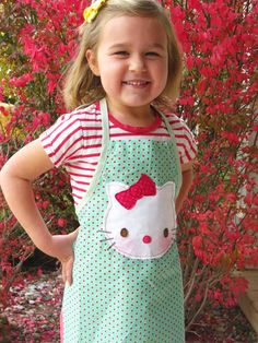 Parties and Patterns: Hello Kitty Kids Apron
