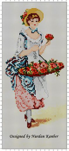 "Nurdan' ın Yeri - A Cross Stitch Blog: New Design "" Eliza"" / Yeni Desenim ""Eliza"""