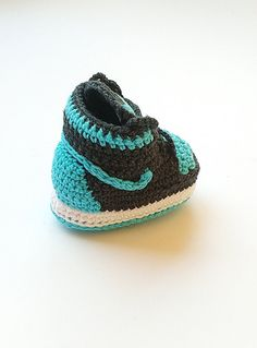 Crochet Jordan shoes Crochet baby Nike booty by KrissiCrochets