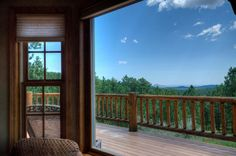 View of Black Hills forest from the deck of Pinnacle Place near Deadwood.  A Black Hills retreat.   #BlackHillsCabins #Cabinswithaview #CabinsinBlackHillsprivate