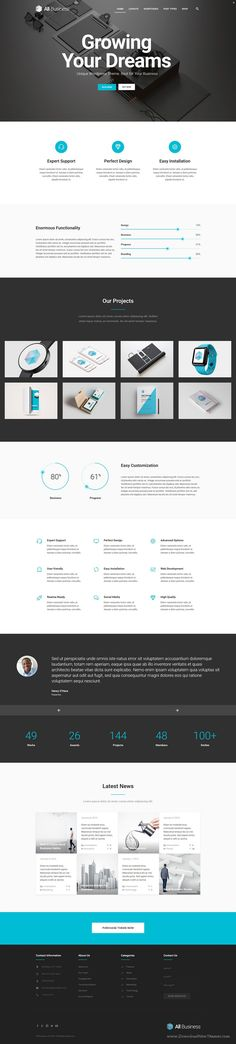 All Business is wonderful material design WordPress #Theme for Corporate and #Company #websites. Download Now!