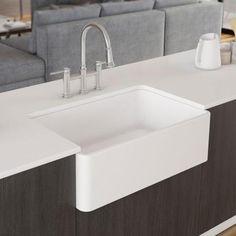 "Blanco Cerana II 30"" Single Bowl Farmhouse Apron Sink, White - The Sink Boutique"