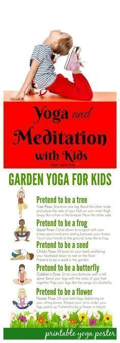 FITNESS FOR KIDS - Yoga and Meditation with Kids. Meditation during yoga can teach children relaxation techniques and how to reduce stress and also provides other amazing health benefits. - My Yoga Slim Yoga For Kids, Exercise For Kids, Workouts With Kids, Stretches For Kids, Kids Workout, Quick Workouts, Woman Workout, Chico Yoga, Meditation Kids
