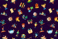 School Icons + 4 Illustrations Bonus by Decorwith.me Shop on Creative Market
