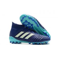 newest ba37f c4fb4 2018 Baratas Botas de fútbol Adidas Predator 18.1 AG Nuevos Hombre Azul  Blanco