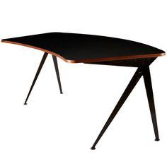 "Jean Prouve, ""Compas"" Desk | From a unique collection of antique and modern desks at https://www.1stdibs.com/furniture/storage-case-pieces/desks/"