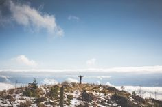 Free Image: Man With Open Arms on The Top of The Mountain | Download more on picjumbo.com!