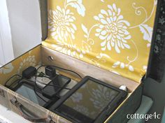 Vintage Suitcase into Charging Station! Hide it in style