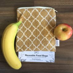 Washable Reusable Zippered Lined Food Bag Sandwich Size by PurcellSewingCo on Etsy Reusable Bags, Fruits And Veggies, Safe Food, Washing Machine, Dishwasher, Sandwiches, Lunch Box, Snacks, Etsy