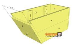Wheelbarrow planter plans - step 3.