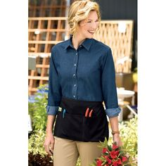 Three-pocket #apron. Perfect for the #garden!