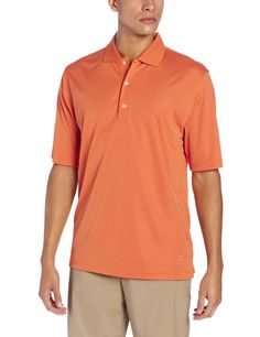 27c1cfed07c6 Made from super fine microfiber yarn this mens fine line stripe golf polo  shirt by Greg