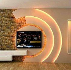 House Ceiling Design, Ceiling Design Living Room, Bedroom False Ceiling Design, Tv Wall Design, Tv Unit Design, Living Room Designs, Pop Design For Hall, Living Rooms, Tv Showcase Design