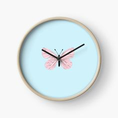 Quartz Clock Mechanism, Pink Butterfly, Canvas Prints, Art Prints, Hand Coloring, Pastel Pink, Chiffon Tops, Printed, Awesome
