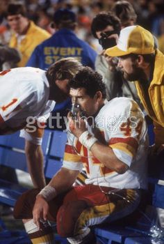 Riggins getting the oxygen following his 43 yard TD run in SuperBowl 17.