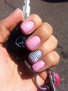 Pink, stripes, and hearts <3