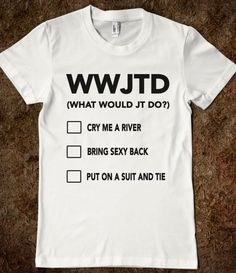 Justin Timberlake - WWJTD - M. Monkie Makes Pretty Pictures - Skreened T-shirts, Organic Shirts, Hoodies, Kids Tees, Baby One-Pieces and Tote Bags Custom T-Shirts, Organic Shirts, Hoodies, Novelty Gifts, Kids Apparel, Baby One-Pieces | Skreened - Ethical Custom Apparel