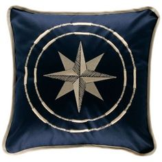 MB Coastal Designs North Star Throw Pillow, Navy Blue, Set of 2 *** To view further for this item, visit the image link. Fluffy Pillows, Throw Pillows, Motifs Roses, Bleu Marine, Coastal, Cushions, Tapestry, Stars, Classic